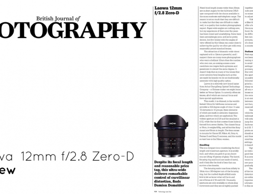 ▤ [Review] Laowa 12mm f/2.8, by British Journal of Photography