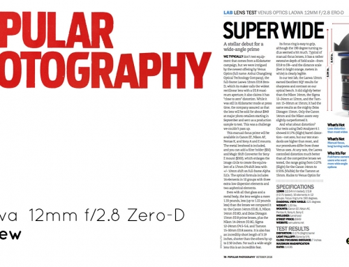 ▤ [Review] Laowa 12mm f/2.8 Zero-D, by Popular Photography Magazine
